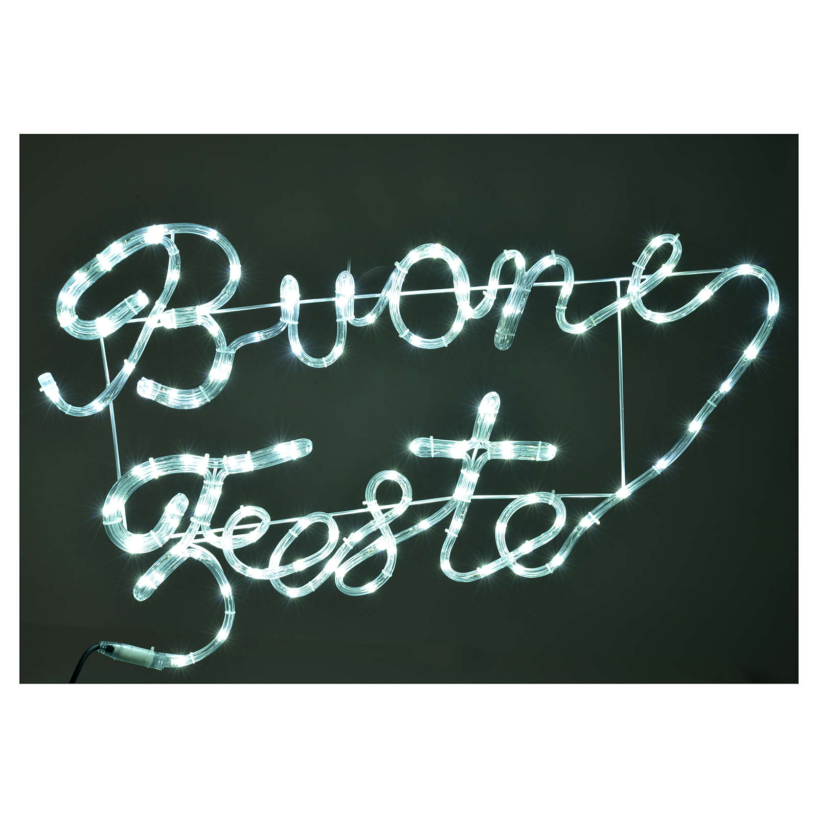 Christmas light, BUONE FESTE, ice white, for outdoor use 126 LED 3