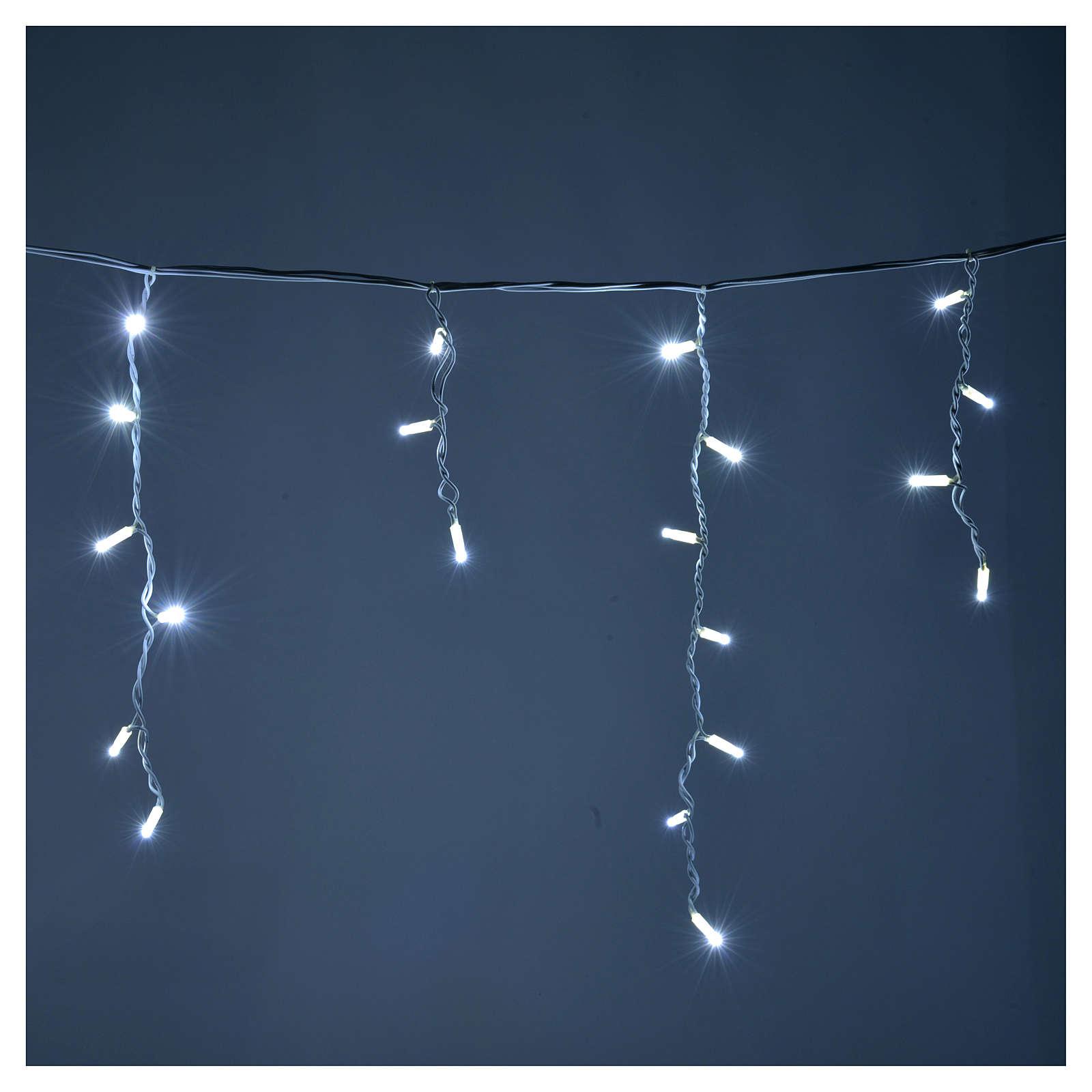 Cortina de luces de navidad 100 led blanco hielo para for Cortina de luces led