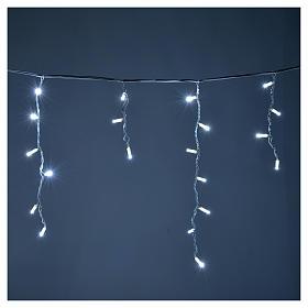 Cortina de luces de Navidad 100 LED blanco hielo para exterior s2