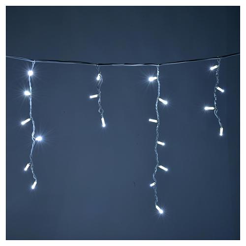 Luce natalizia tenda luminosa 100 led ghiaccio esterno 2