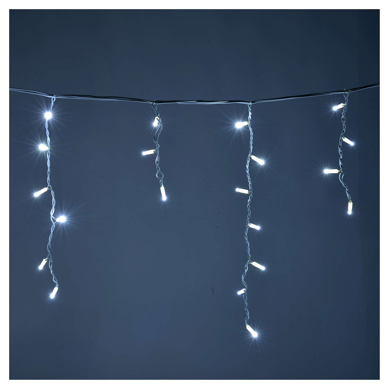 Christmas LED curtain, 100 LED, ice white, for outdoor use 3