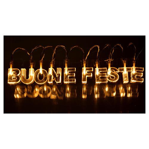 Décoration lumineuse BUONE FESTE leds blanc chaud 2