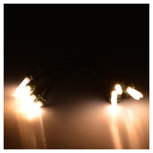 Luce natalizia 10 led pisellino bianco caldo interno 2