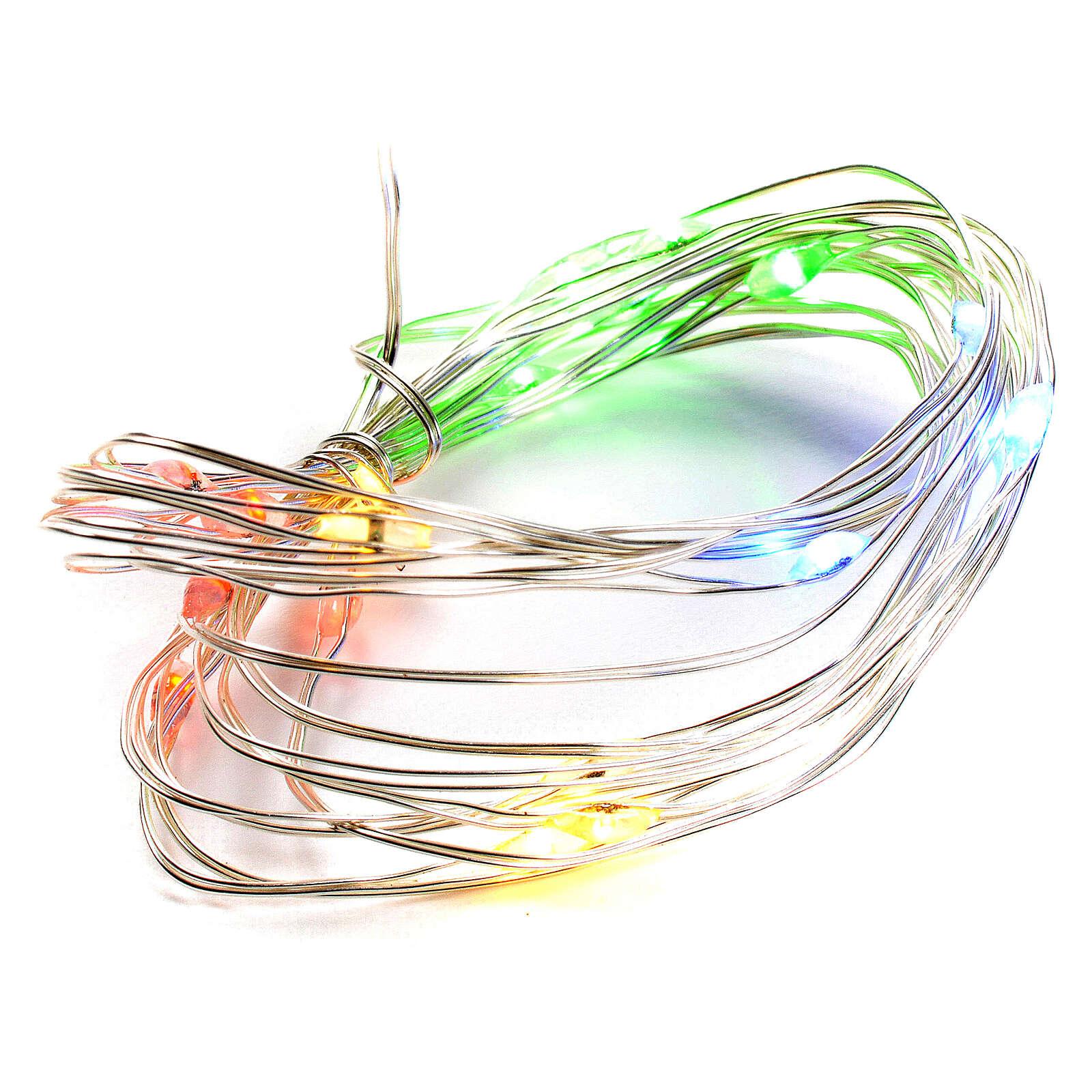 Luce natalizia filo nudo 20 led interno multicolor 3