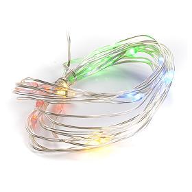 Luce natalizia filo nudo 20 led interno multicolor s1