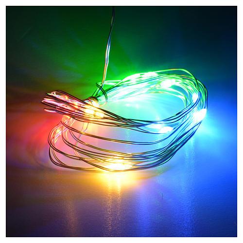 Luce natalizia filo nudo 20 led interno multicolor 2