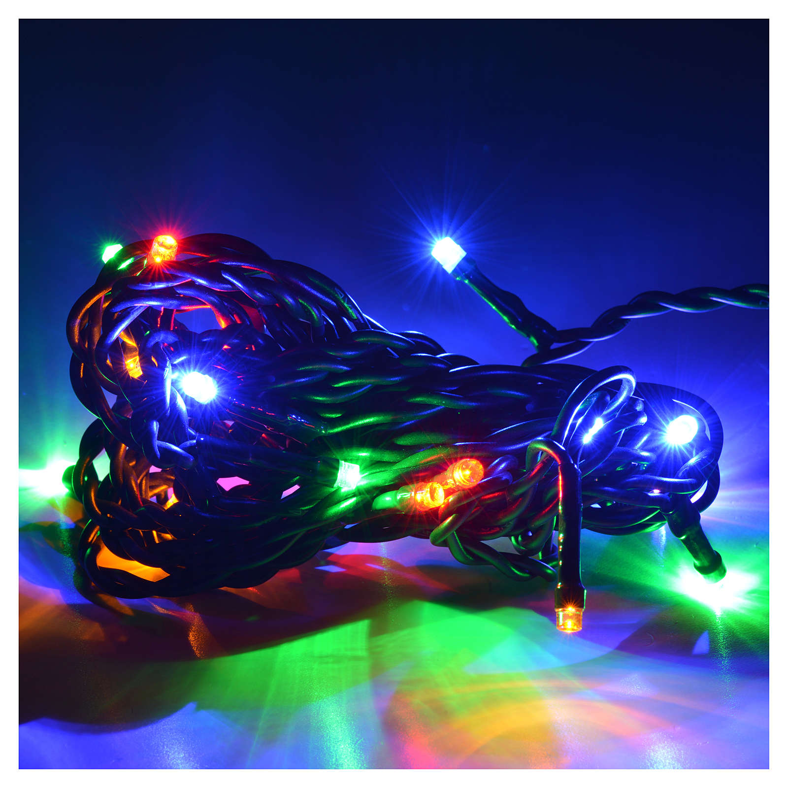 Christmas lights 20 small led multicolor indoors 3