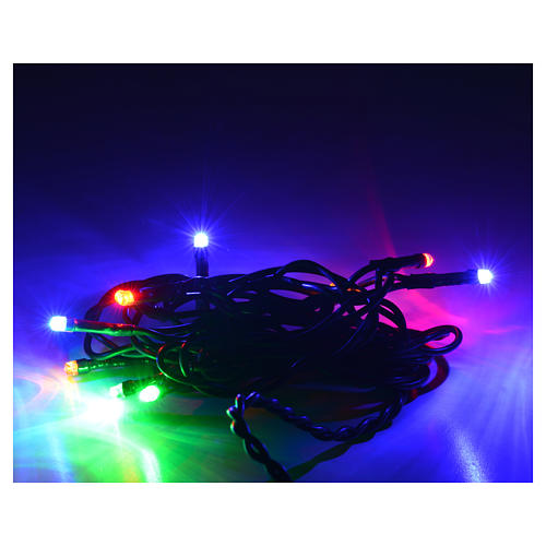 Christmas lights 10 small led multicolor indoors 2