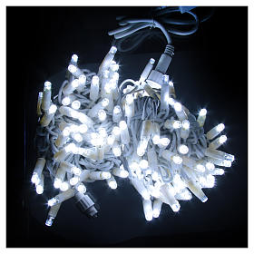 Christmas Lights, 100 ice white LED, programmable for outdoor use s2