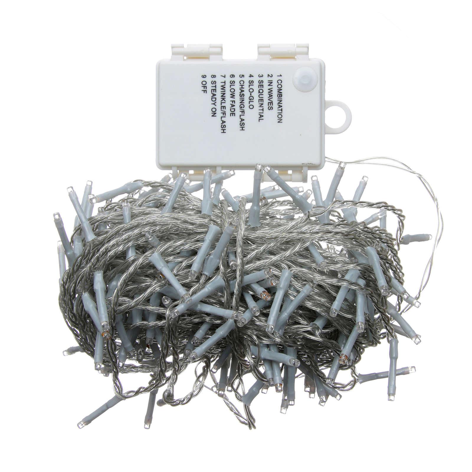 clairage no l cha ne 160 leds bleu ext rieur piles programmable vente en ligne sur holyart. Black Bedroom Furniture Sets. Home Design Ideas