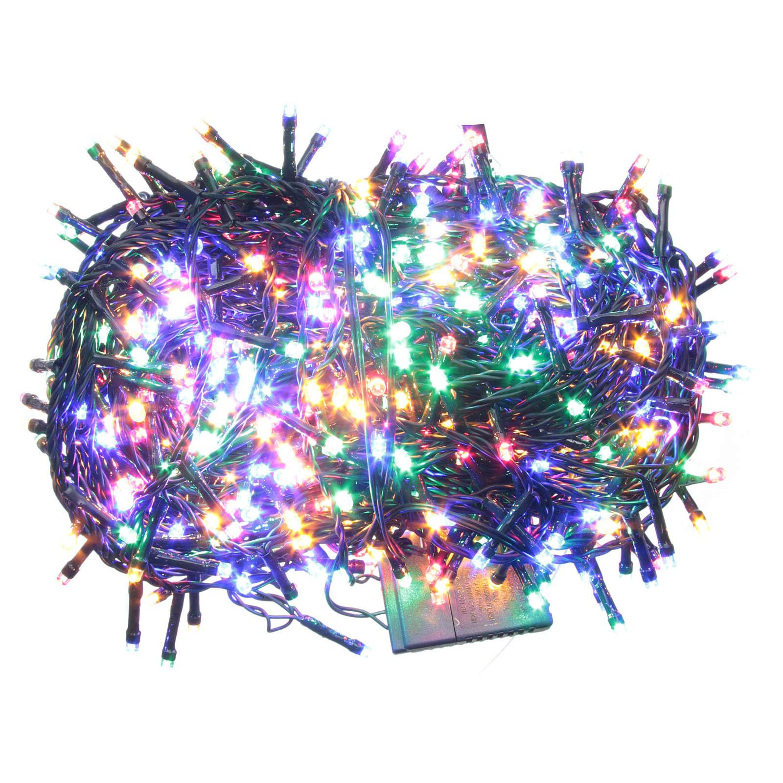 Éclairage Noël chaîne 600 LEDS multicolores EXTÉRIEUR programmable 3