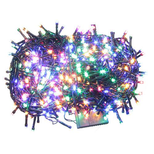 Éclairage Noël chaîne 600 LEDS multicolores EXTÉRIEUR programmable 1