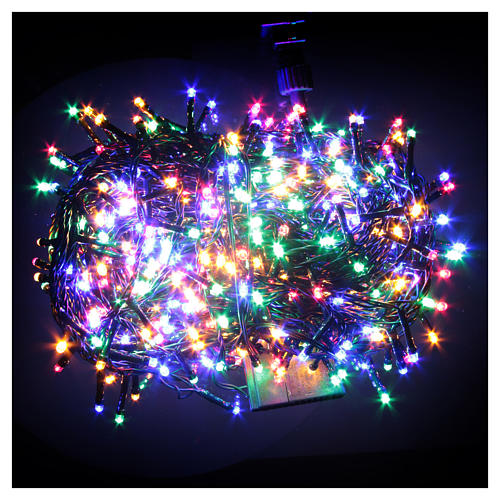 Éclairage Noël chaîne 600 LEDS multicolores EXTÉRIEUR programmable 2