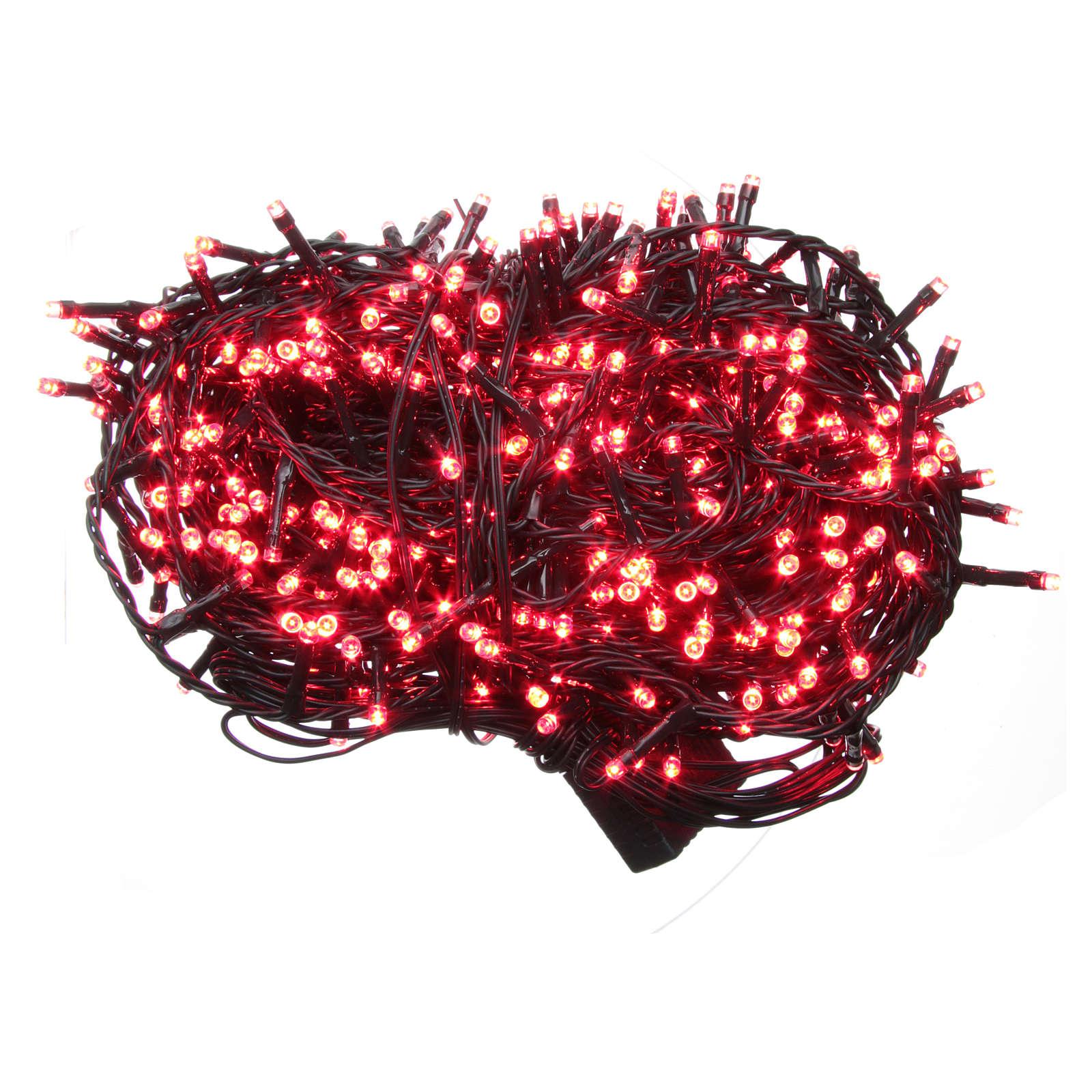 Luce Natale catena 600 LED rosse ESTERNO programmabili 3