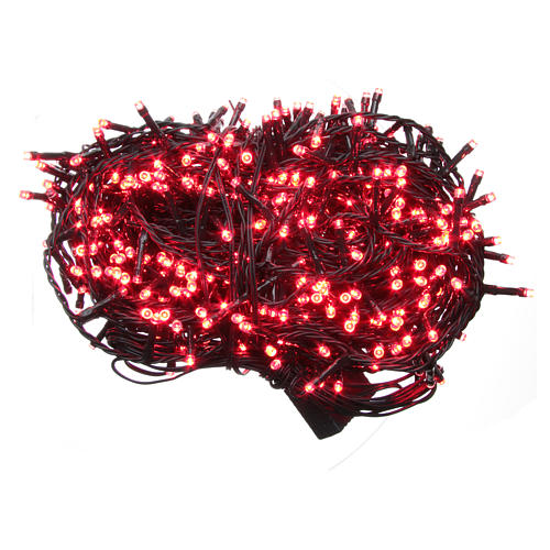 Luce Natale catena 600 LED rosse ESTERNO programmabili 1