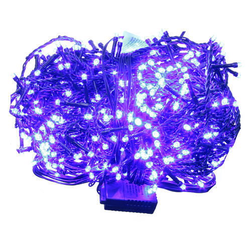 Luce Natale catena 600 LED blu ESTERNO programmabili 1