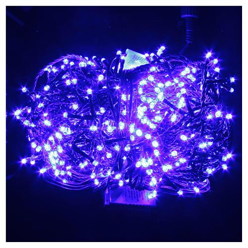 Luce Natale catena 600 LED blu ESTERNO programmabili 2