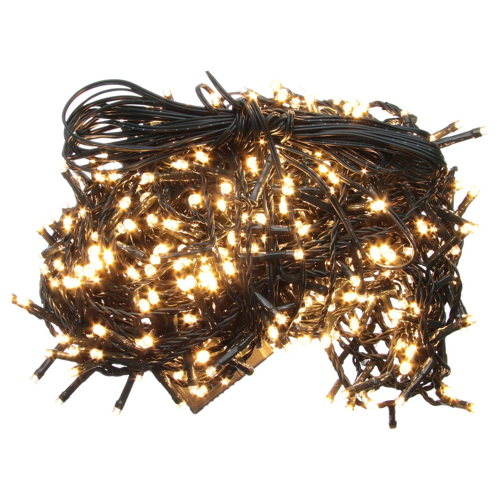 Luce Natale catena 600 LED bianco caldo ESTERNO programmabili 3