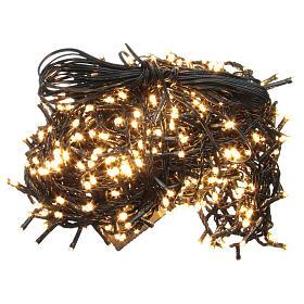 Luce Natale catena 600 LED bianco caldo ESTERNO programmabili s1