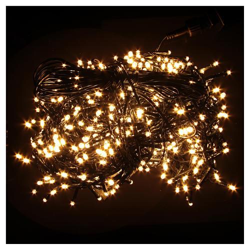 Luce Natale catena 600 LED bianco caldo ESTERNO programmabili 2