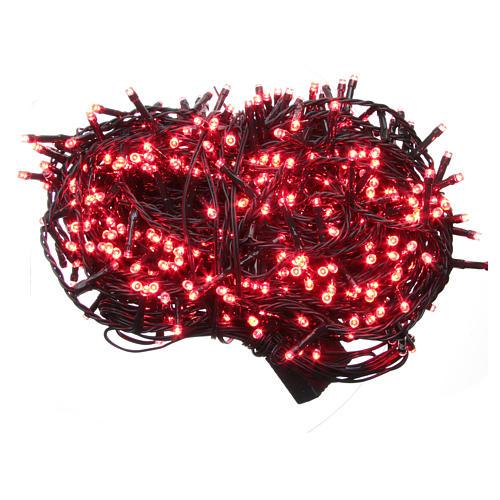 Éclairage Noël chaîne 1000 LEDS rouges EXTÉRIEUR programmable 1