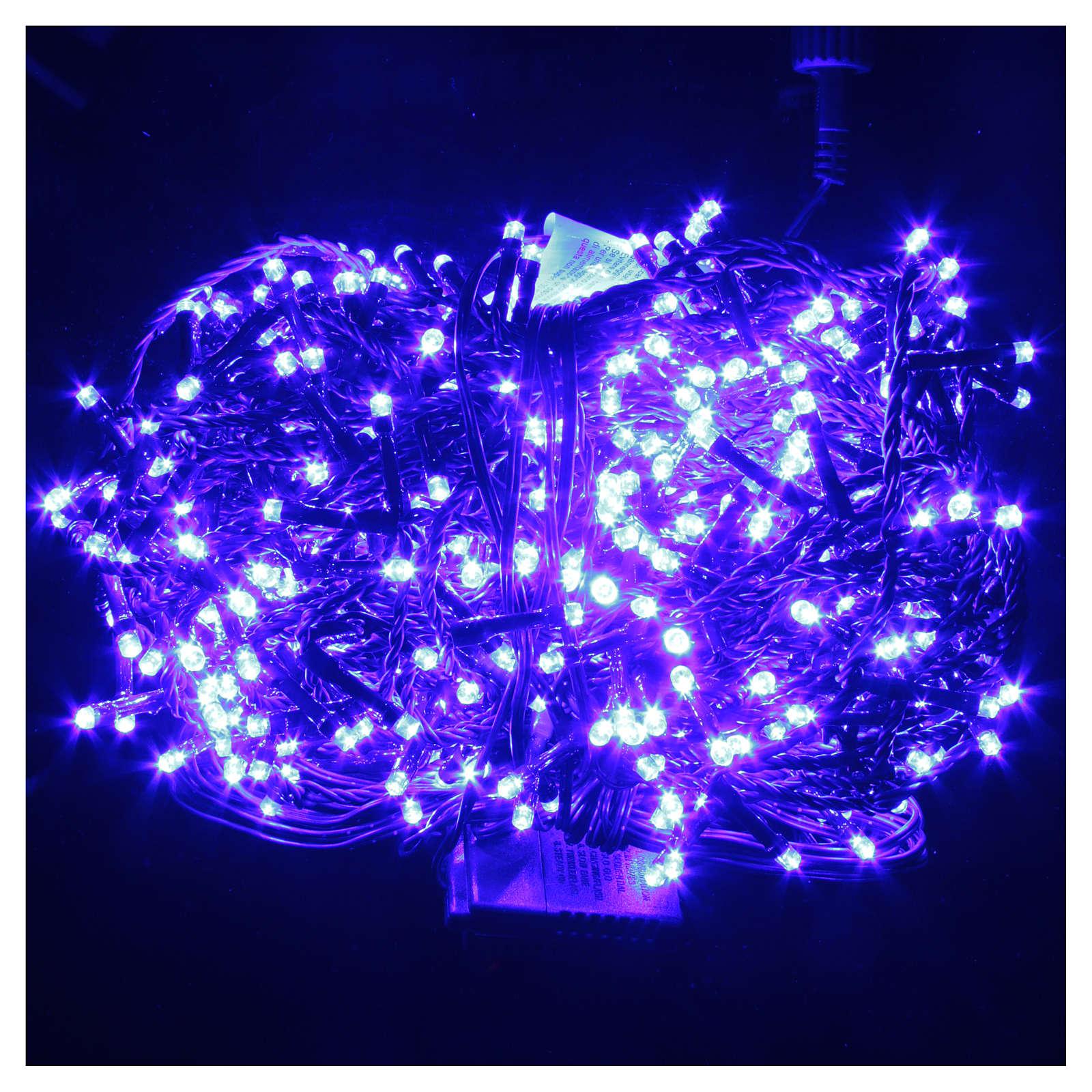Luce Natale catena 1000 LED blu ESTERNO programmabili 3