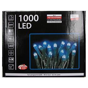 Luce Natale catena 1000 LED blu ESTERNO programmabili s4