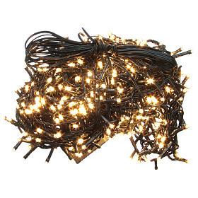Luce Natale catena 1000 LED bianco caldo ESTERNO programmabili s1