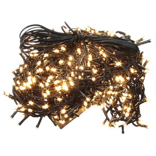 Luce Natale catena 1000 LED bianco caldo ESTERNO programmabili 1