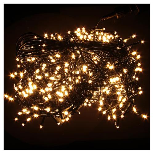 Luce Natale catena 1000 LED bianco caldo ESTERNO programmabili 2