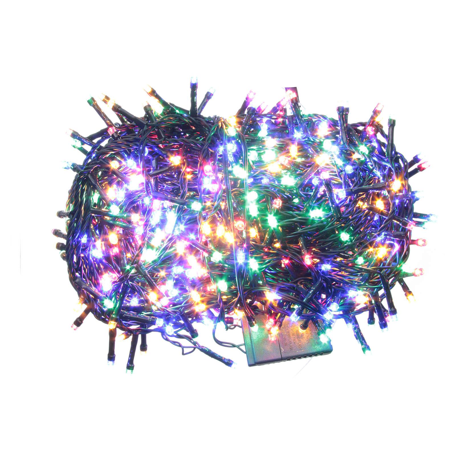 Éclairage Noël chaîne 1000 LEDS multicolores EXTÉRIEUR programmable 3