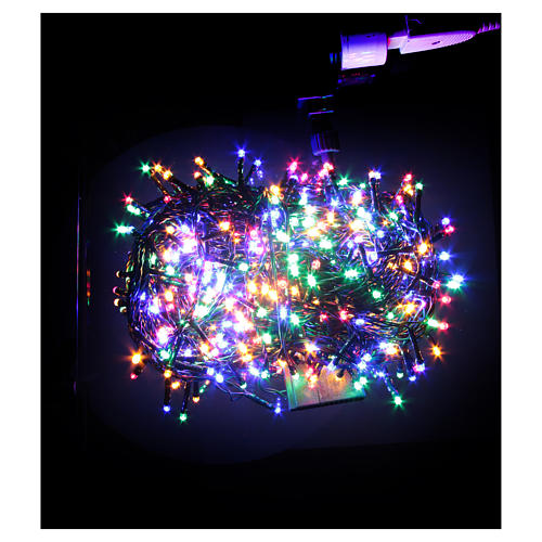 Éclairage Noël chaîne 1000 LEDS multicolores EXTÉRIEUR programmable 2