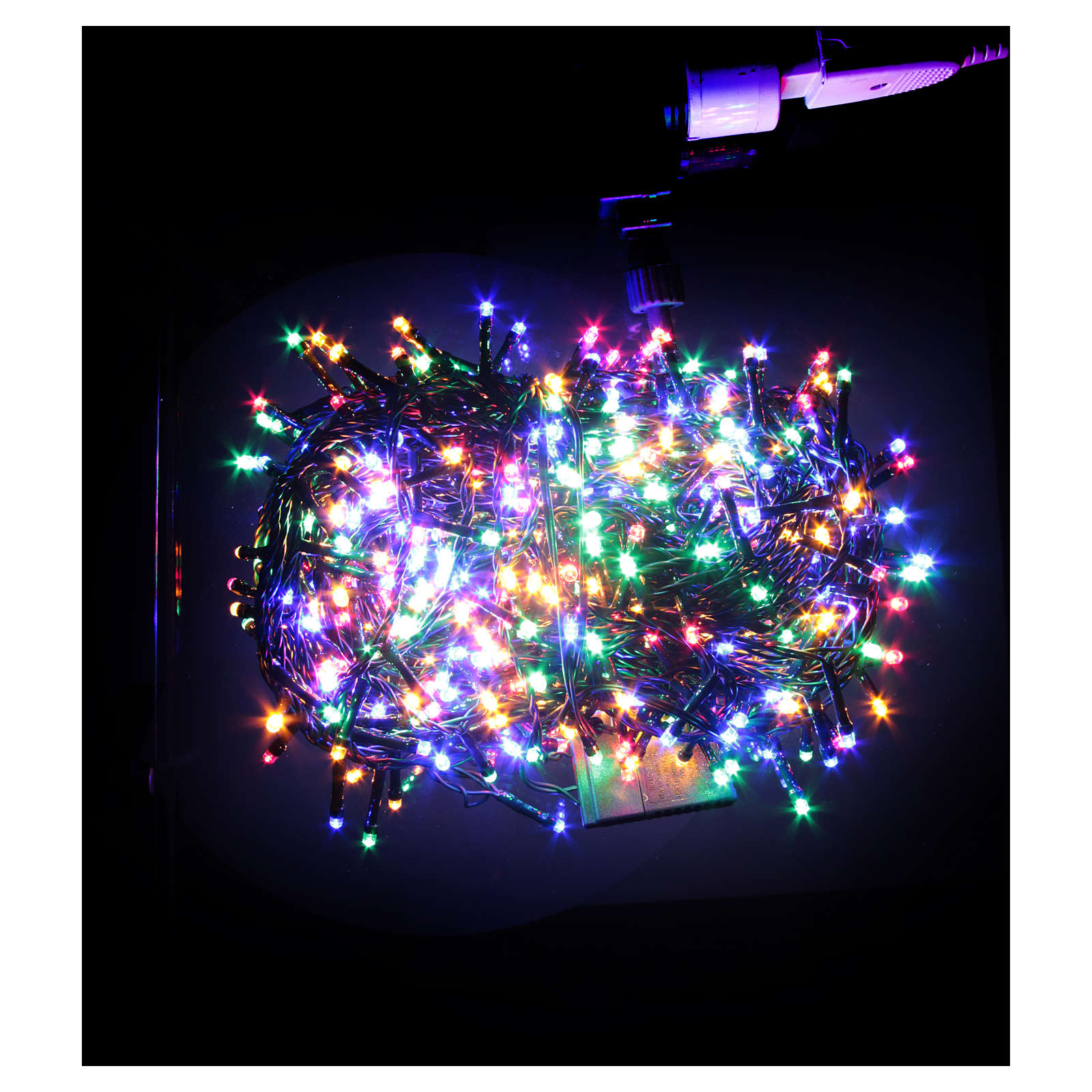 christmas lights 1000 multicoloured led programmable for outdoor use 3