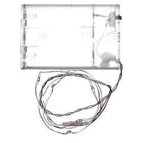 Światełka bożonarodzeniowe 5 led kropla biały zimny na baterie przewód przezroczysty s3