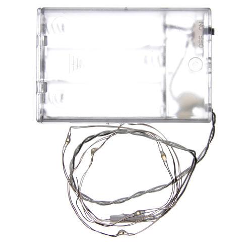 Światełka bożonarodzeniowe 5 led kropla biały zimny na baterie przewód przezroczysty 3