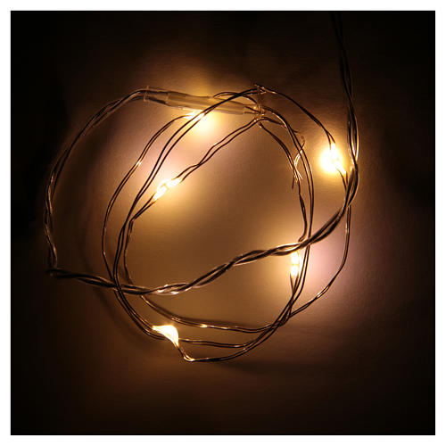 LED Christmas lights, 5 drop shaped, warm white and battery powered 2