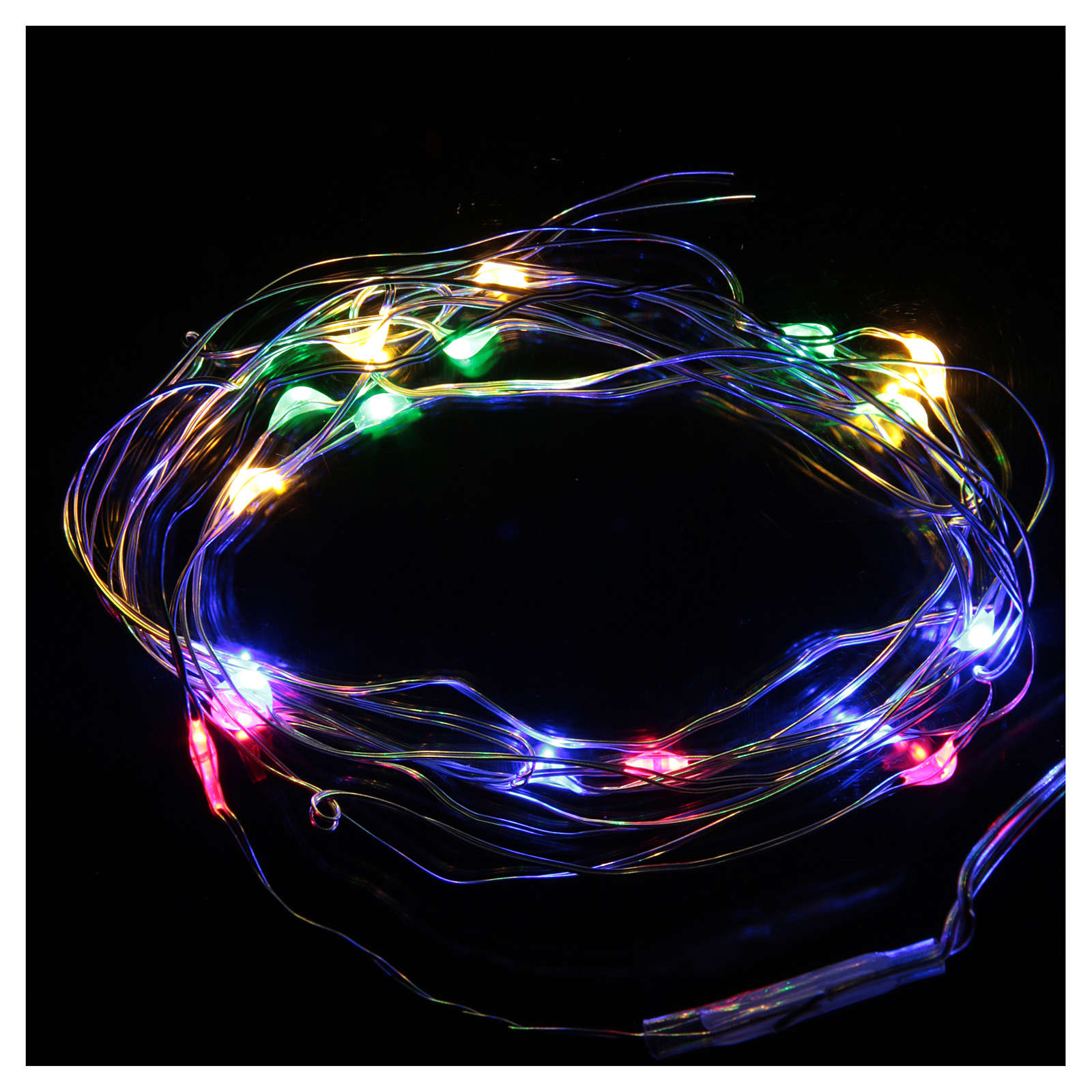 LED Christmas lights, drop shaped, multicoloured and battery powered 3