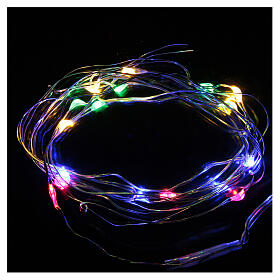 LED Christmas lights, 20 drop shaped, multicoloured and battery powered s1