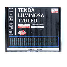 Christmas LED curtain, 120 blue lights, for outdoor use s3