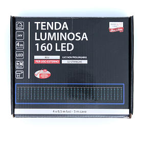 Christmas LED curtain, 160 blue lights, for outdoor use s3