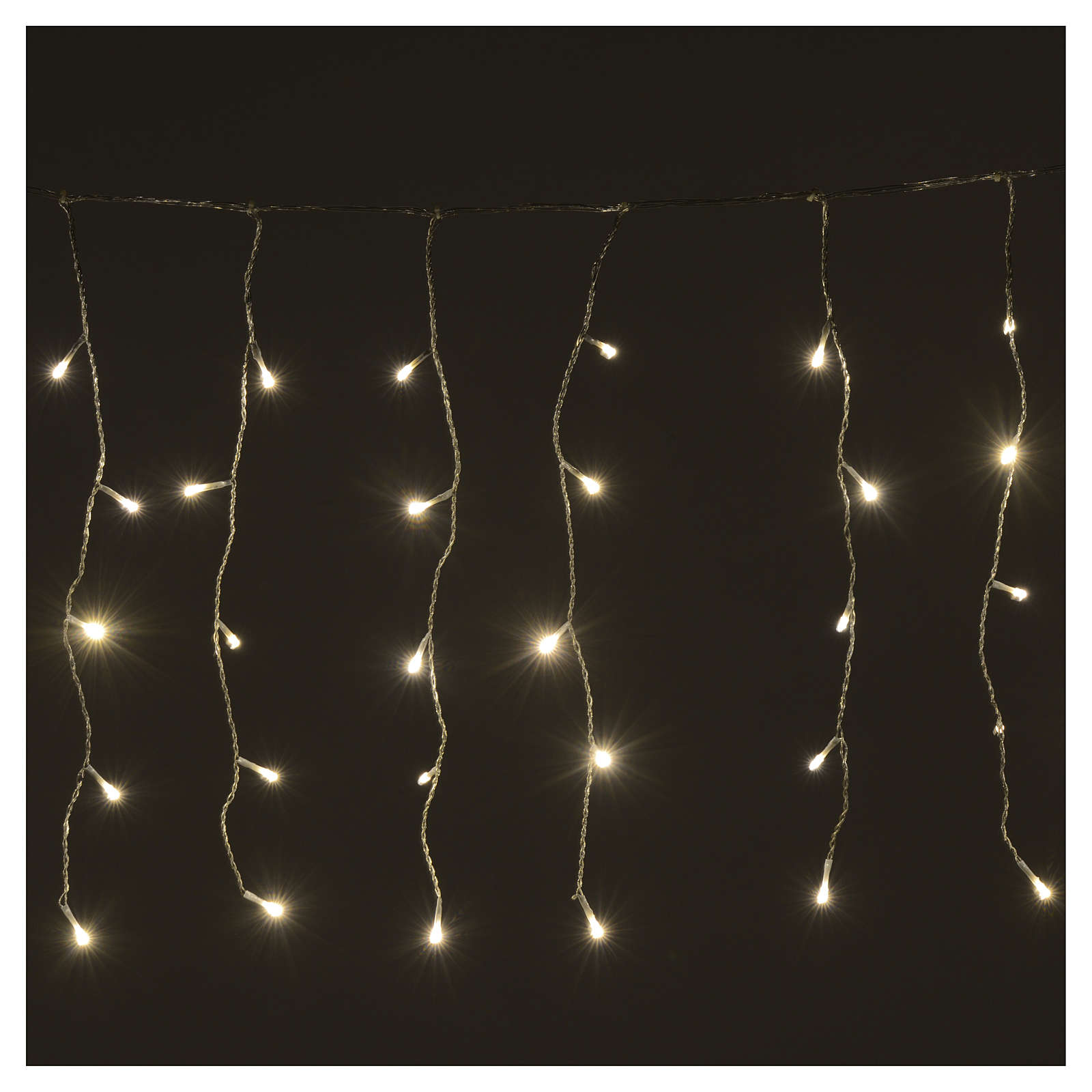 Christmas LED curtain, 160 warm white lights, for outdoor use 3