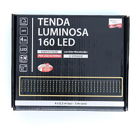 Christmas LED curtain, 160 warm white lights, for outdoor use s3