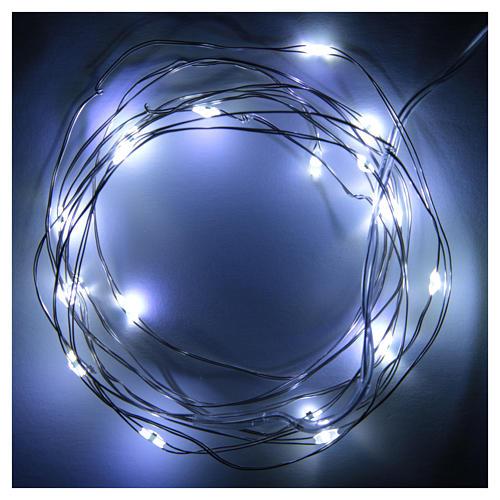 Luce di Natale filo nudo 20 led bianco freddo interno corrente 2