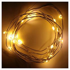 Luce di Natale filo nudo 20 led bianco caldo interno corrente s2