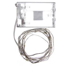 Luce di Natale filo nudo 20 led bianco caldo interno corrente s3
