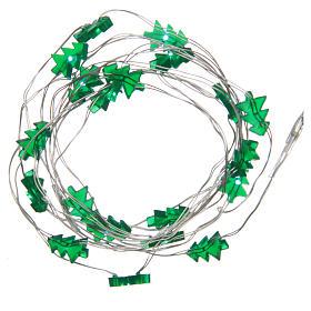 Luzes de Natal: Série fio nu 20 Leds verde interior