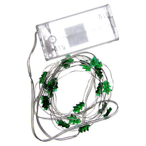 Fairy lights: 20 green LED lights, for indoor use 4