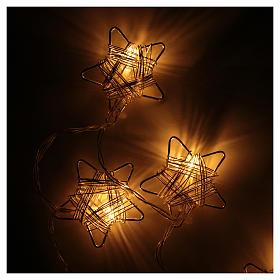 Luce di Natale 10 stelle led bianco caldo s2