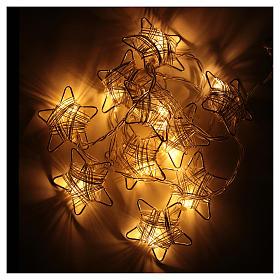 Luce di Natale 10 stelle led bianco caldo s3