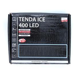 Luce natalizia tenda ICE 400 led bianco freddo ESTERNO s3